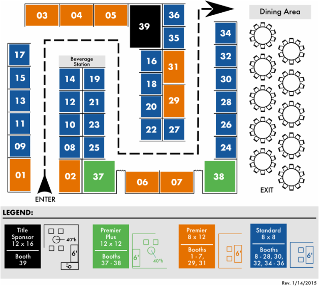 INARF's 2014 Annual Conference Exhibitor Layout