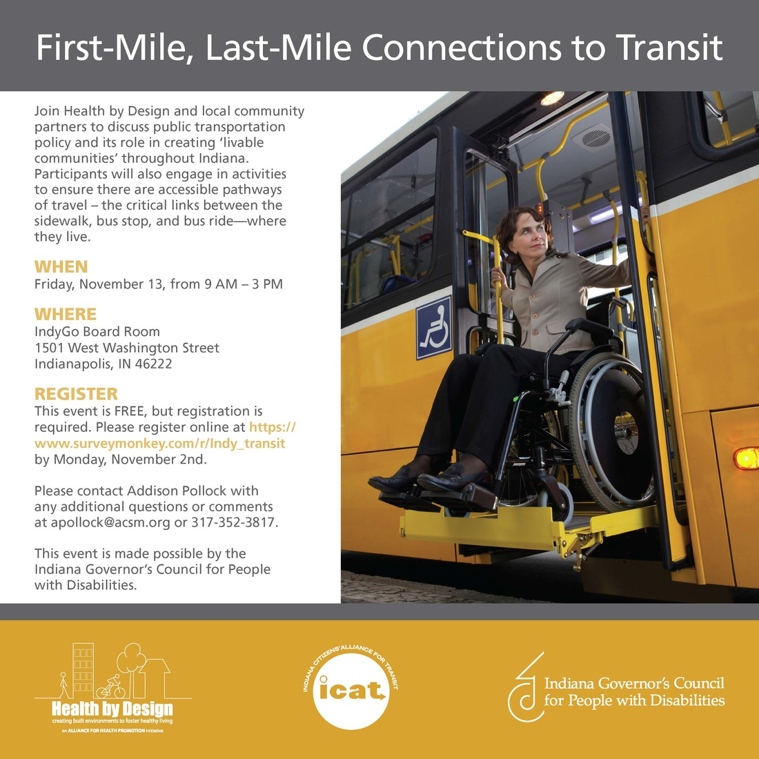 Flyer for First-Mile Connections