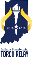 Indiana Bicentennial Torch Relay Logo